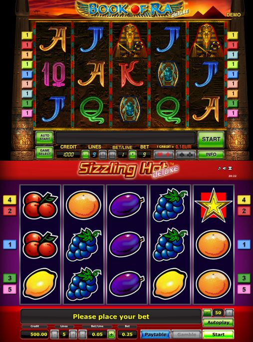 casino slot games book of ra sizzling hot
